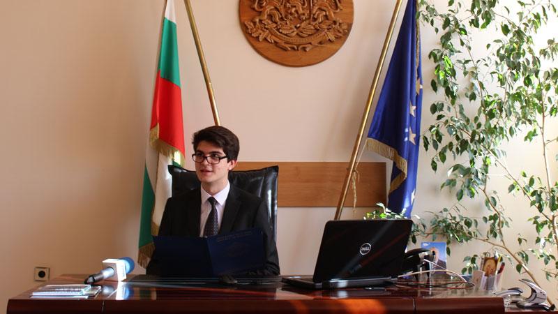 Мениджър за един ден в Областна администрация Видин, Снимка: Областна администрация Видин