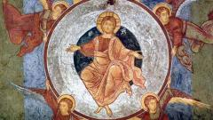 Възнесение Христово, мозайка от купола на храма