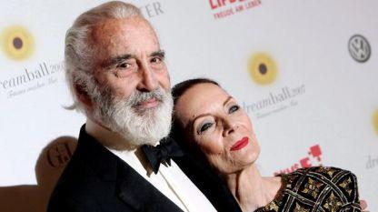 Кристофър Лий със съпругата си Биргит