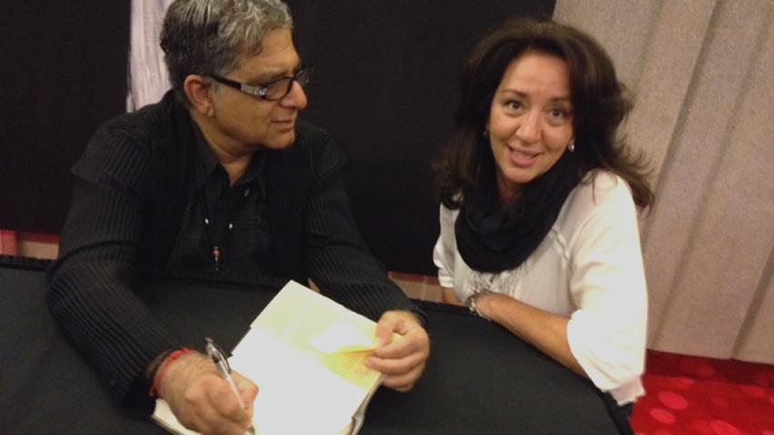 Penka Apostolowa mit dem weltberühmten Arzt, Autor und spirituellen Lehrer Deepak Chopra