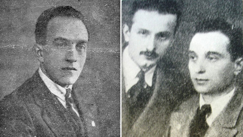 Engineer Georgi M. Georgiev, Prince Mehmet Refik (left) and engineer Marin Marinov, Chairman of Rodno Radio Union