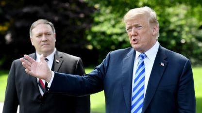 Доналд Тръмп и държавният му секретар Майк Помпео
