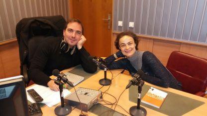 Александър Райчев и Йоана Буковска-Давидова в студиото на
