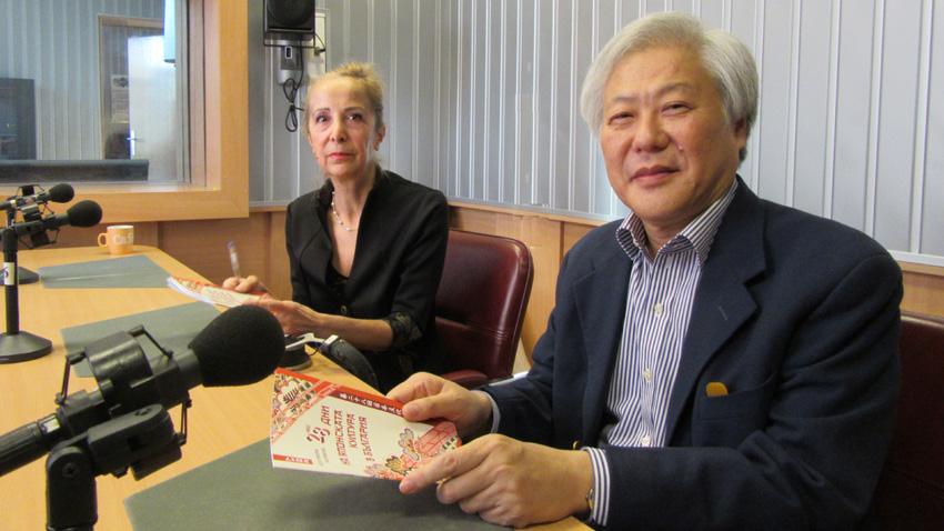 Н. Пр. г-н Масато Ватанабе, извънреден и пълномощен посланик на Япония у нас, и г-жа Биляна Станойлович, асистент на посланика