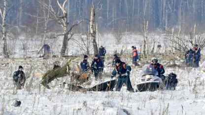 Издирването в района на катастрофата може да продължи една седмица, тъй като отломки от самолета са разпръснати в радиус от един километър.
