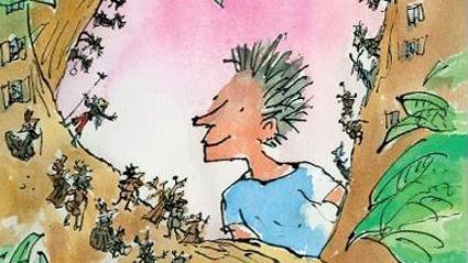 """Част от корицата на книгата  """"Били и минпините"""" на Роалд Дал"""