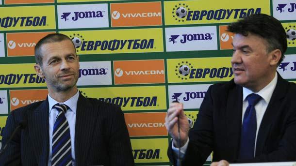 Alexander Čeferin  und Borislaw Michajlow