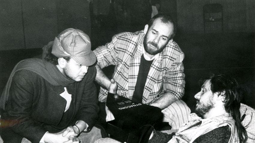 Кристиян Бояджиев (в средата) с Асен Драгнев и Румен Бояджиев