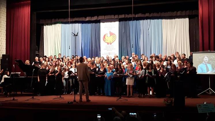 Сборна хорова формация изпълни премиерно пиеса на Амброж Чопи под негово диригентство