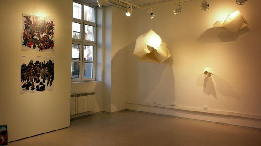 Част от изложбата в Гьоте институт