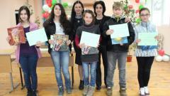 Отборът-победител в състезанието по природни науки