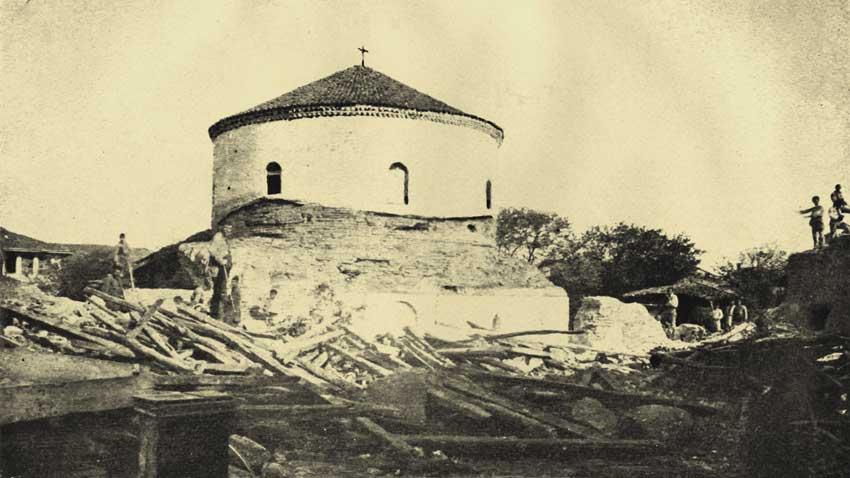 Ротонда Светог Георгија крајем 19. века – рушење приградњи из турског доба