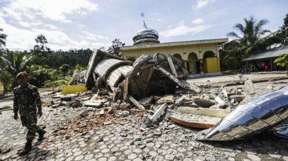 Разрушения на индонезийския остров Сулавеси след земетресението.