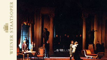 """Сцена от """"Тоска"""" с участието на Йонас Кауфман, Брин Тервъл и Анжела Георгиу.."""