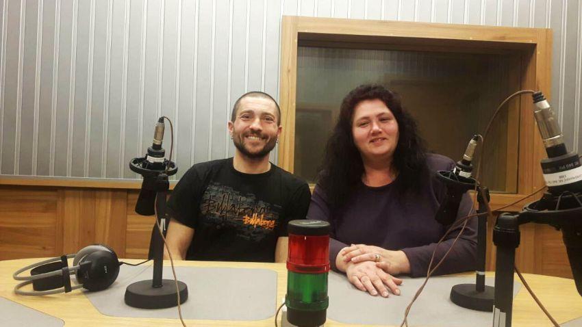 Димитър Агоцев и Християна Янкова в студиото на