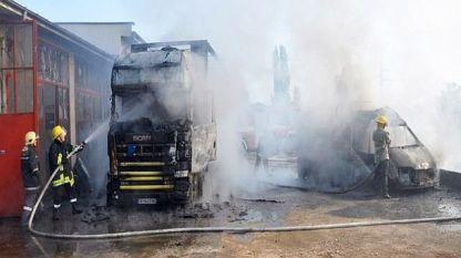 Взрив в автосервиз в Хасково