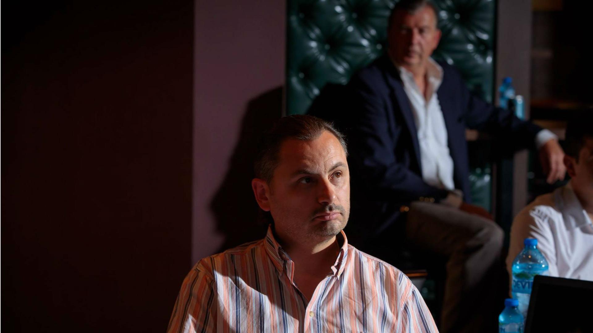Невен Боянов и партньорът му Франк Флеминг по време на представянето на DivaCare