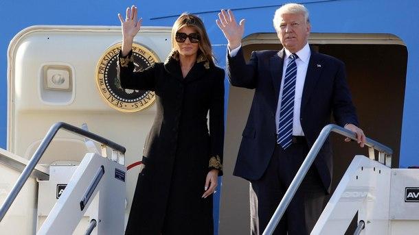 Мелания Тръмп и Доналд Тръмп