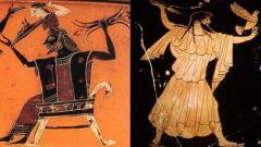 Изображения на бог Зевс върху древногръцки вази