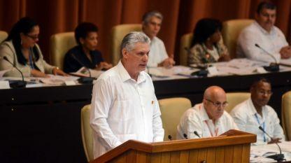 Диас-Канел говори за нужните промени в конституцията пред депутатите в кубинския парламент