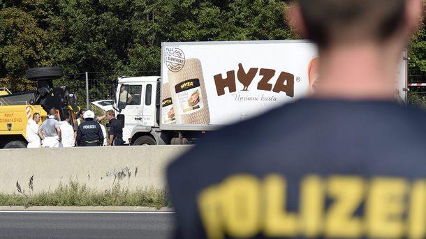 Хладилният камион за месо, в който на 26 август 2015 г. в Австрия бяха открити телата на 71 мигранти