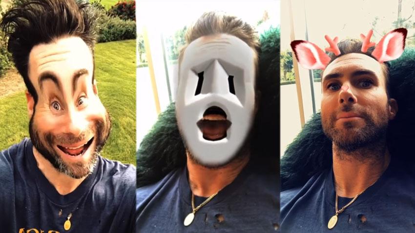 В клипа на Маруун Файв вокалистът Адам Лавин придобива различни образи с помощта на анимационни и други похвати, достъпни и в смартфоните