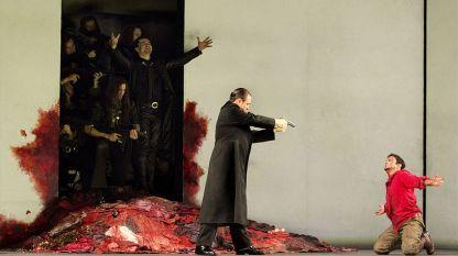 Матю Поленцани (на снимката вляво) в ролята на Идоменей и Франко Фаджоли в ролята на Идаманте