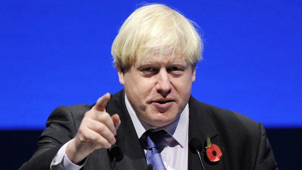Британският външен министър Борис Джонсън