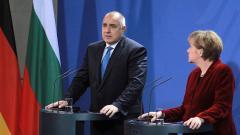 Премиерът Бойко Борисов и канцлерът Ангела Меркел по време на срещата им в Германия