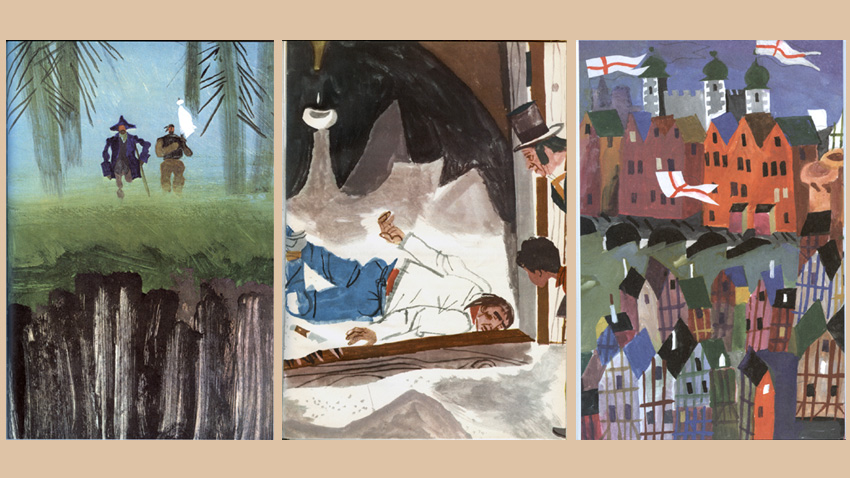 Lyuben Zidarov's illustrations from Tom Sawyer, Treasure Island and The Prince and the Pauper