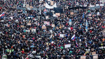 Протест в Словакия