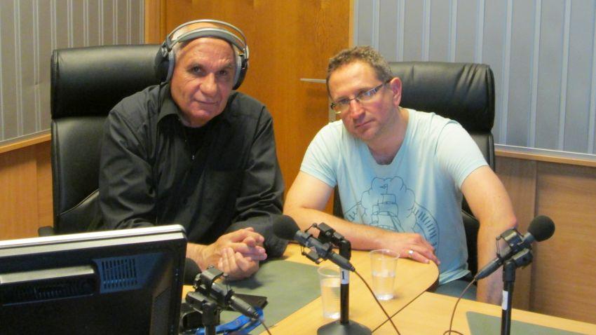 Симеон Идакиев и доцент Георги Бърдаров в студиото на