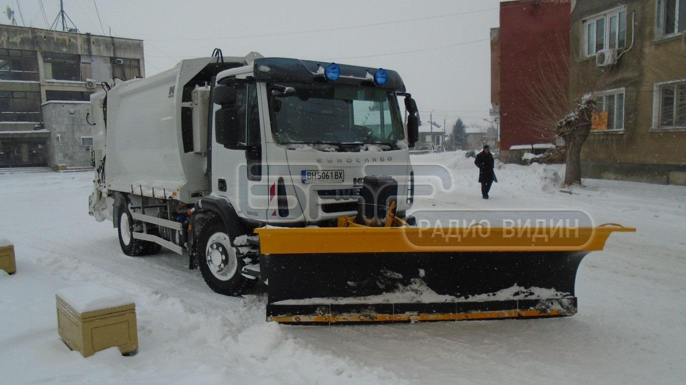 Община Ново село разполага със собствени машини за снегопочистване.