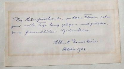 Бележката от Алберт Айнщайн до италианска студентка, писана през 1921 г.