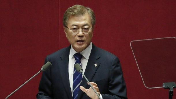 Изказване на южнокорейския президент Мун Дже-ин пред кабинета на страната
