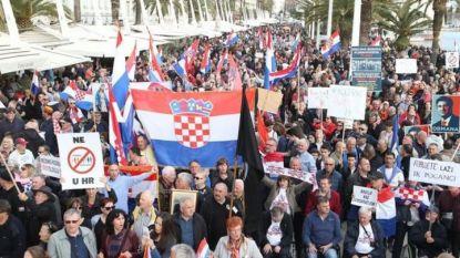 Хиляди излязоха на протест в хърватския град Сплит в четвъртък срещу Истанбулската конвенция, но парламентът днес я ратифицира.