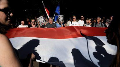 Протестиращите застават зад сегашния ръководител на Върховния съд
