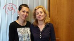 """Мариела Великова (вляво) и Елисавета Коюмджиева в студиото на """"Нашият ден - практично""""."""