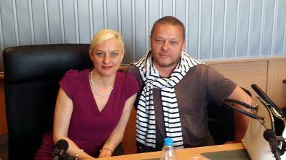 Андре Шандел и Вера Шандел в БНР