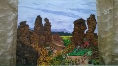 Николай обича да рисува Белоградчишките скали