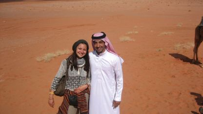 Калина Павлова в пустинята Уади Рам в Йордания