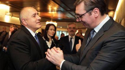 Бойко Борисов и Александър Вучич в рамките на срещата на лидери на Западните Балкани и ЕС в София на 1 март.