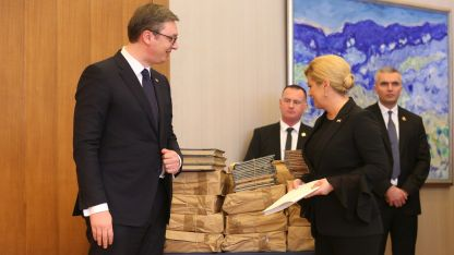 Александър Вучич и Колинда Грабар-Китарович