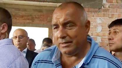 Бойко Борисов по време на посещението си в Стара Загора