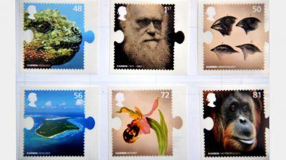 Пощенски марки, посветени на живота и делото на Чарлз Дарвин, по повод 200-годишнината от рождението му (Лондон, Великобритания, 2009 г.)