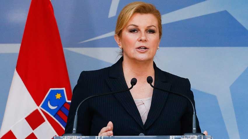 Дни преди референдума в Македония и хърватският президент Колинда Грабар