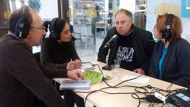 Кшищоф Варга /д/ и Гриша Атанасов пред Радио София