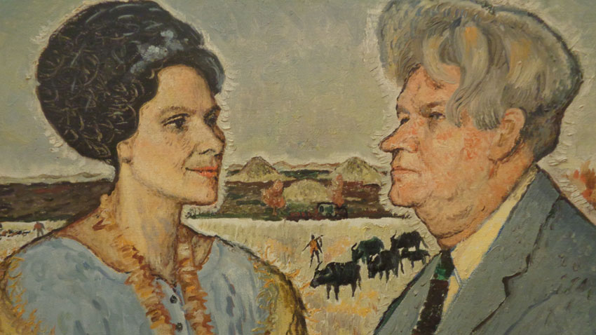 Portrait of writer S. T. Daskalov and wife – poetess Liana Daskalova (1962)