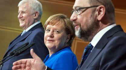 Зеехофер, Меркел и Шулц
