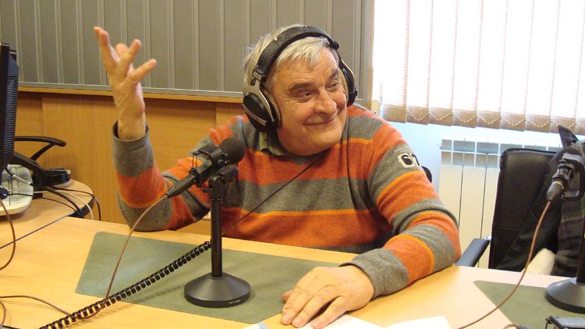 Джеки Стоев в студиото на БНР